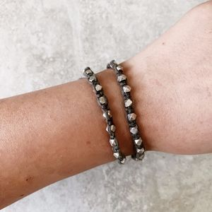 Chan Luu Grey Thread Silver Bracelet